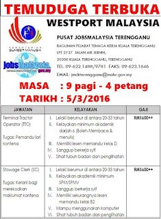 Kerja Kosong Kerani Terengganu