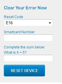 How to clear e16 error on gotv