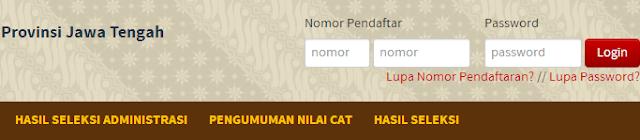 Pengumuman Hasil Seleksi CPNS Pemerintah Provinsi Jawa Tengah Pelamar Umum 24 Desember 2013