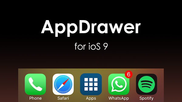 App Drawer: tweak for quick access to applications in the style of Android [Cydia]