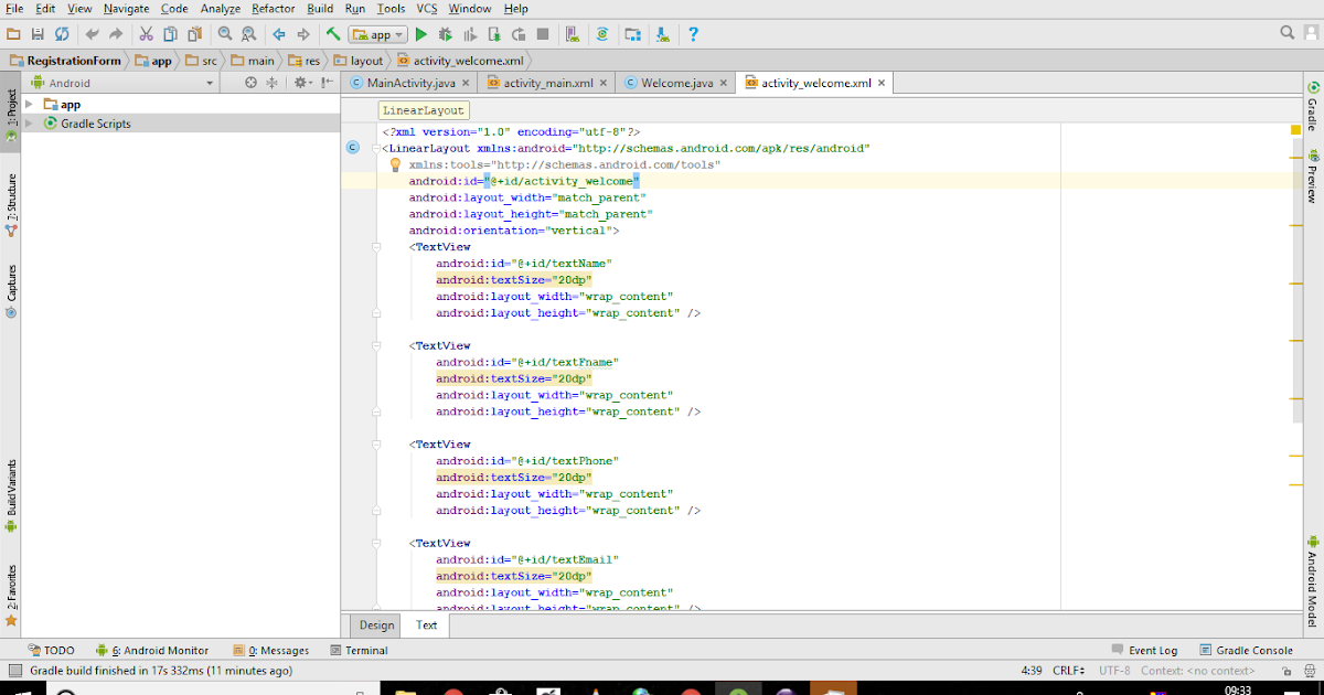 Android Studio ~ Information Tech