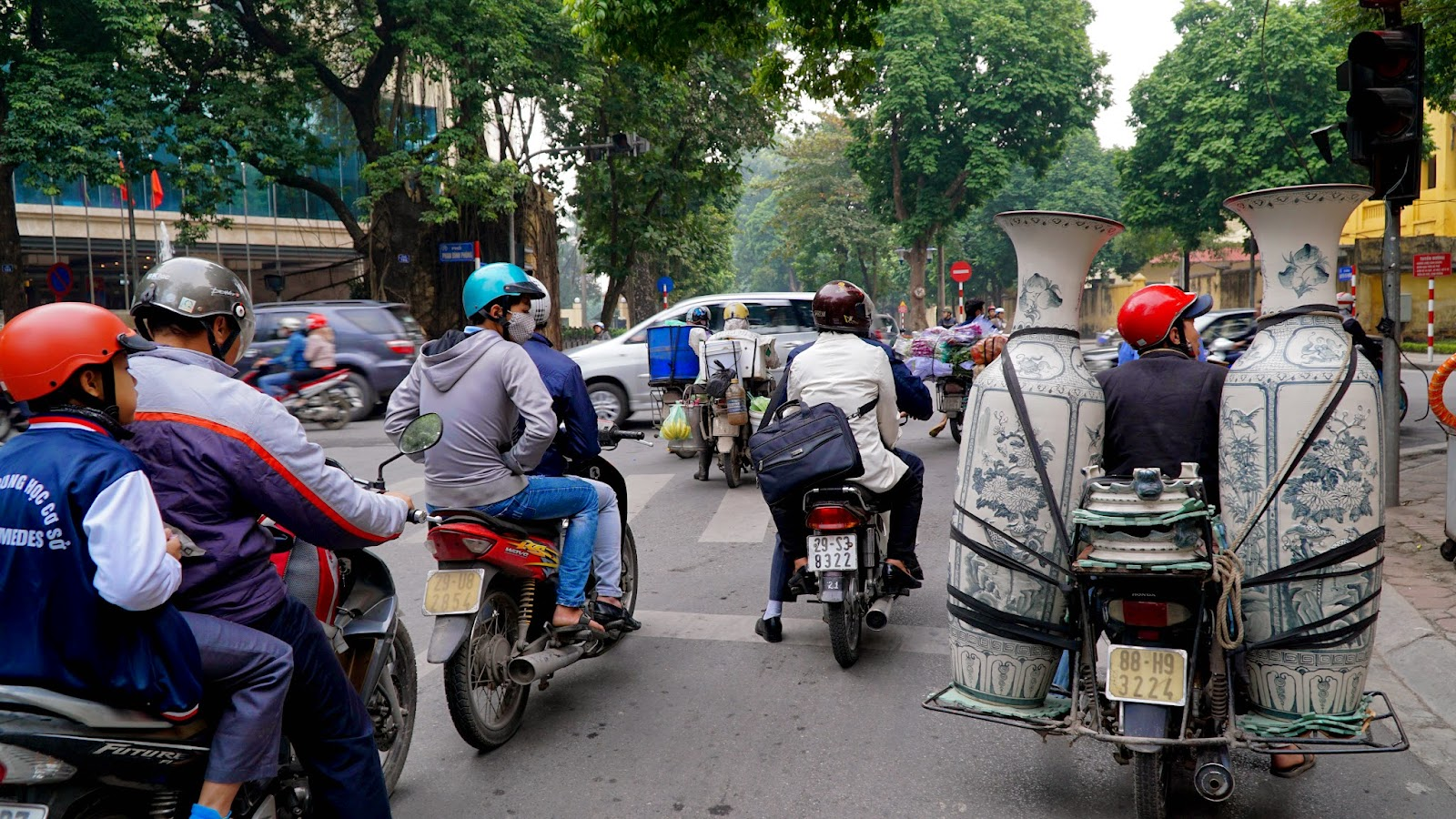 Motorcycling around Hanoi. Keep your eyes on the road and wits about you as traffic in Hanoi can be pretty unpredictable