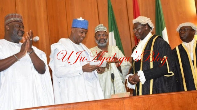FLASHBACK: On this day in 2015, Saraki 'dribbled' APC to become senate president