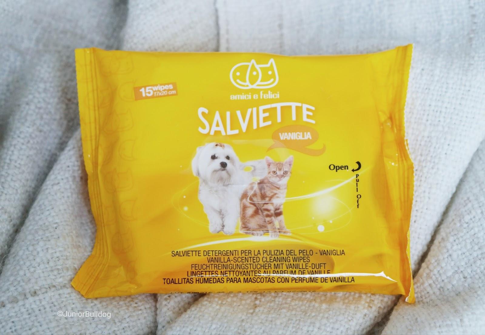 lingettes nettoyantes chien camon vanille