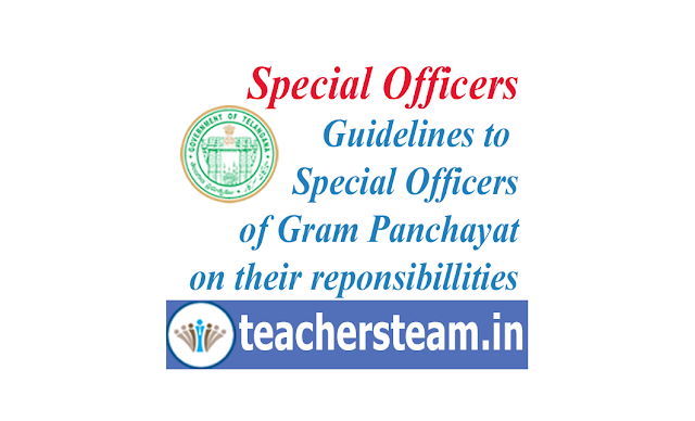 guidelines to special officers of panchayats