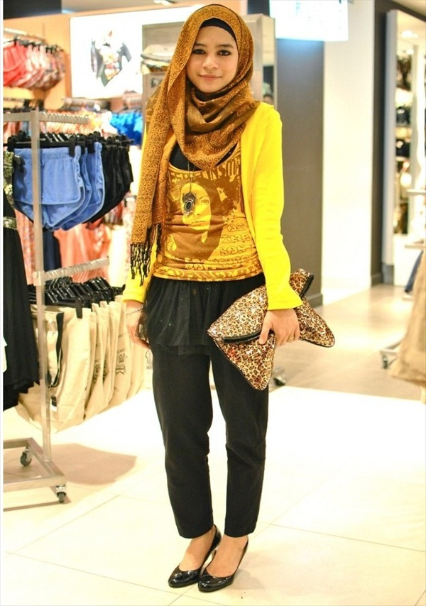 Ways To Style your hijab modren-hijab-style-2