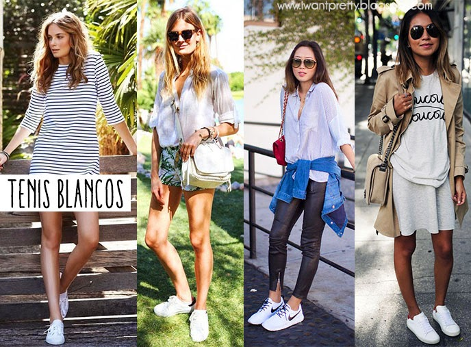 outfits con tenis nike blancos