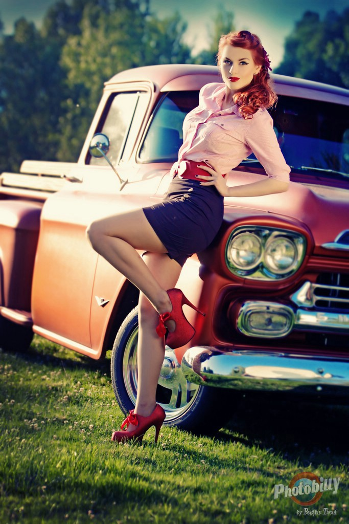 pin girls and cars - photo #1