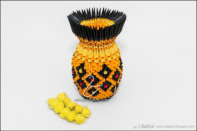 534. Wazon z origami / 3d origami vaze