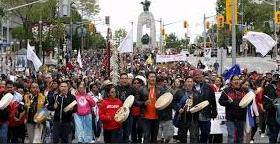 First Nations People : Thousands walk for 'reconciliation' in Canada