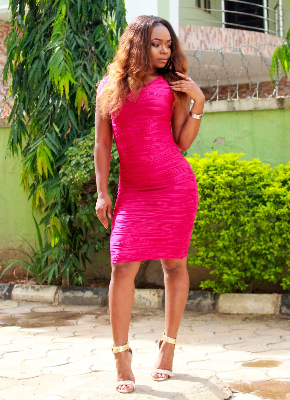 CERISE MIDI DRESS from Jumia