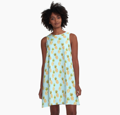 Pineapple Pattern Dress