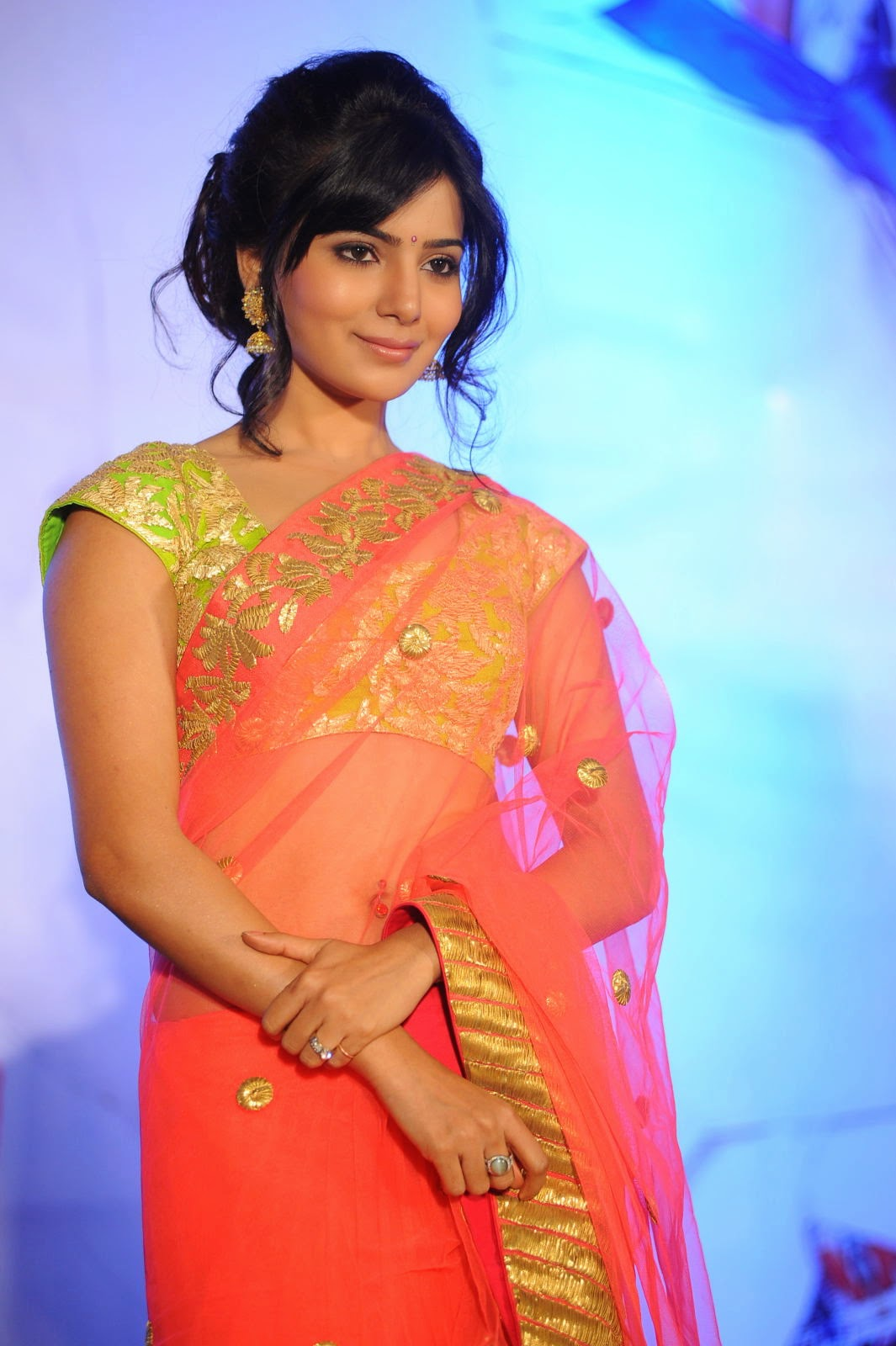Actress Hd Gallery Samantha Cute Saree Hd Hot Photo