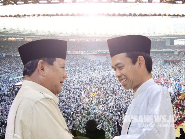 UAS Ke Prabowo, Jokowi Kelar