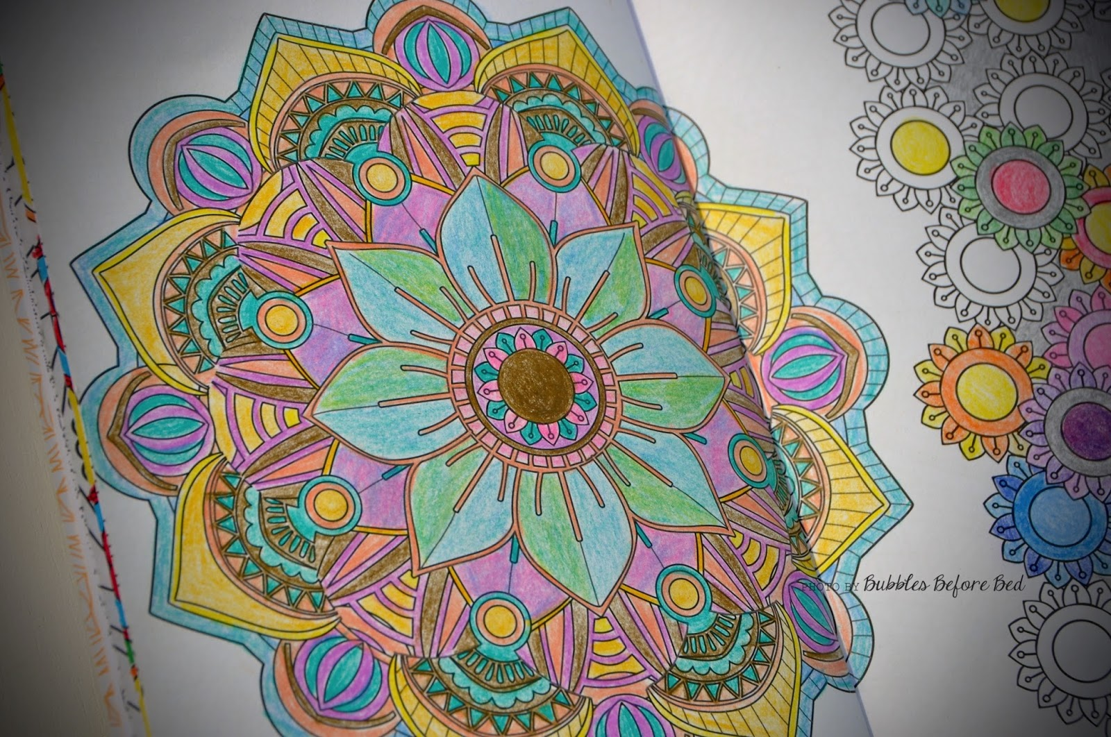 Bubblesbeforebed Colouring Book Mandala