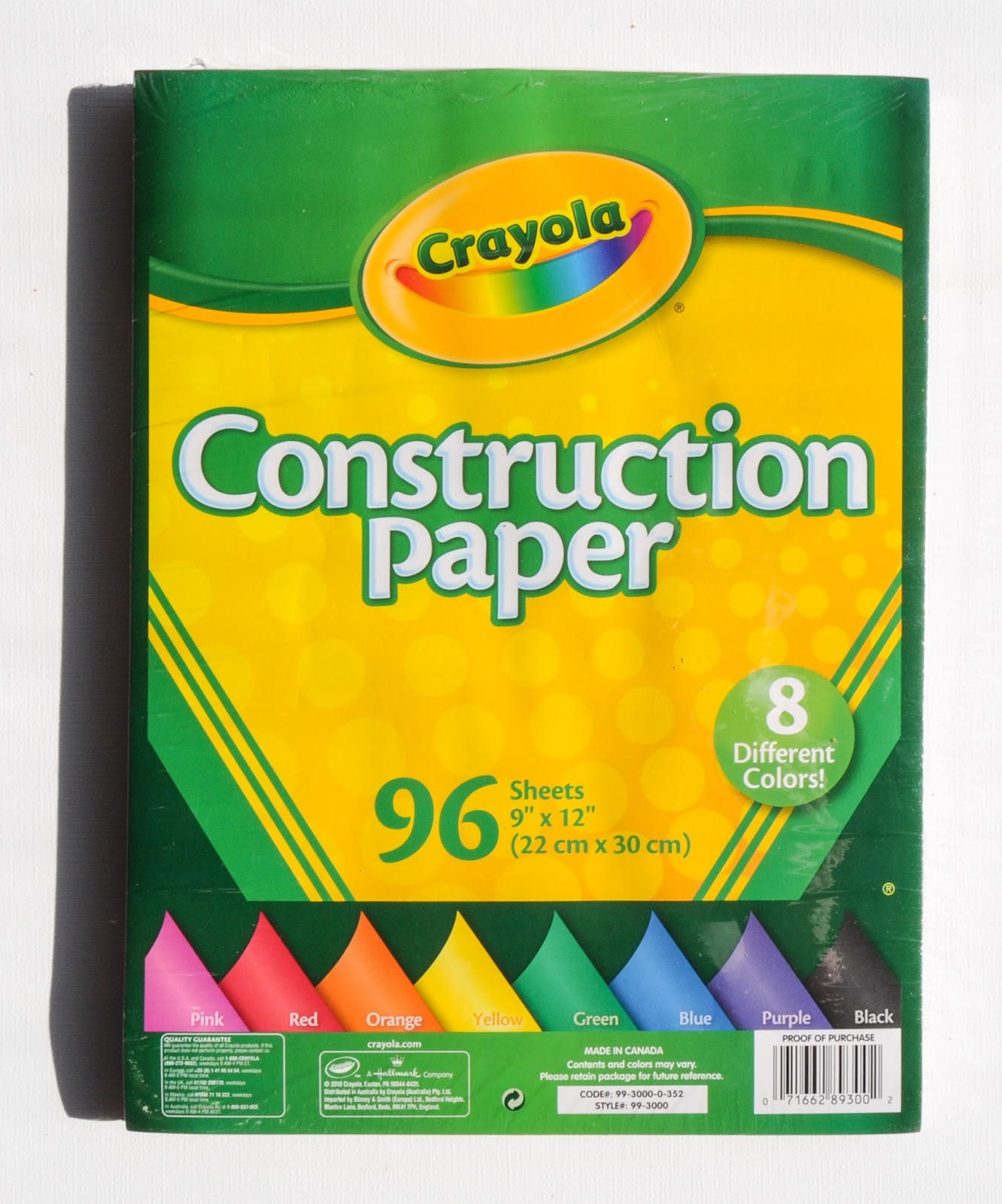 Crayola Construction Paper: What\'s Inside the Package | Jenny\'s ...