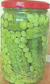 Заготовка на зиму. Огурцы с зеленым горошком