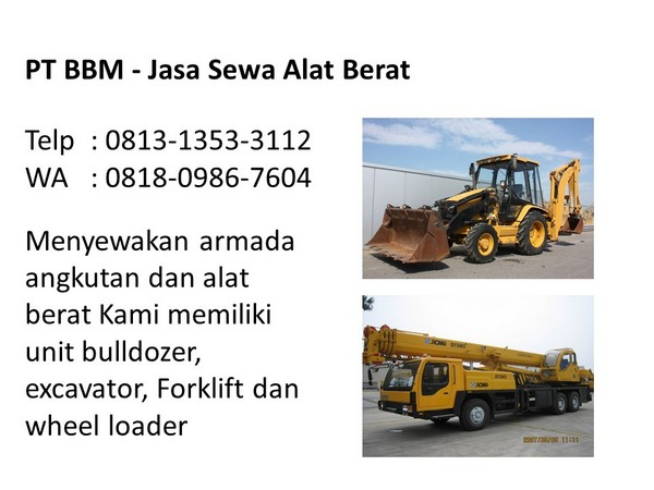 surat perjanjian rental alat berat excavator di bandung dan jakarta