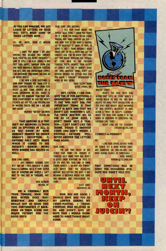 Read online Sonic The Hedgehog comic -  Issue #54 - 27