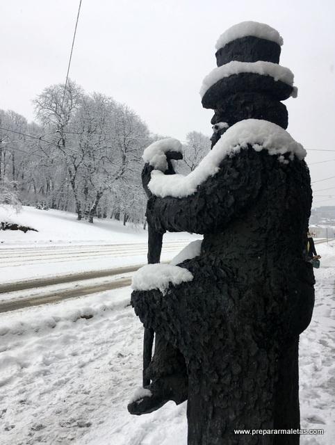nieve en Oslo Noruega