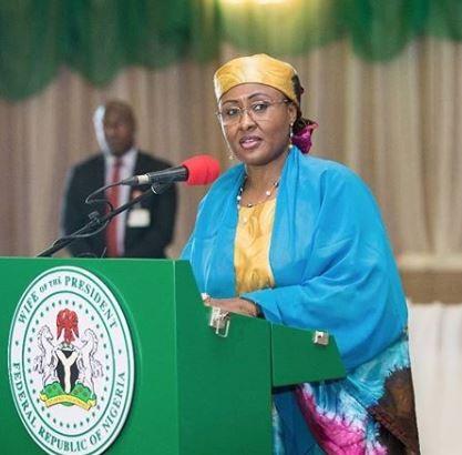 Aisha Buhari calls out Adams Oshiomhole and APC leaders in a statement