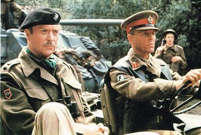 Michael Caine and Edward Fox in Jeep