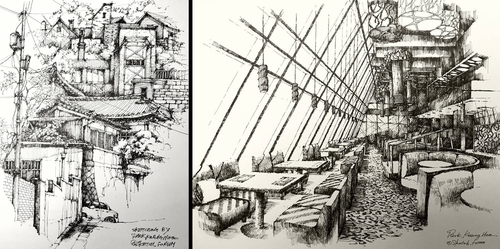 00-Park-Kwang-Hee-Architectural-Sketches-Interior-Exterior-Old-and-New-www-designstack-co