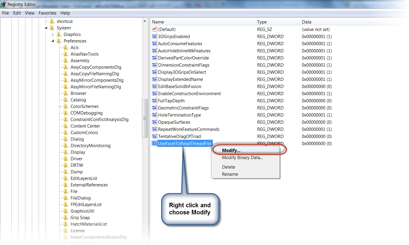 Can't Select Threads in Autodesk Inventor? Check the Registry