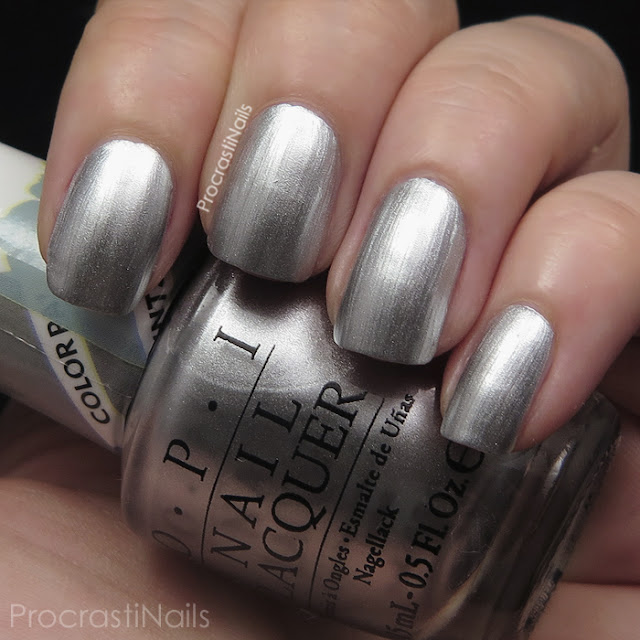 Swatch of OPI Silver Canvas from the 2015 Color Paints Collection