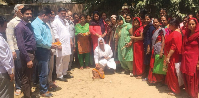 Councilor Mamta Choudhury inaugurates development work done in ward 8
