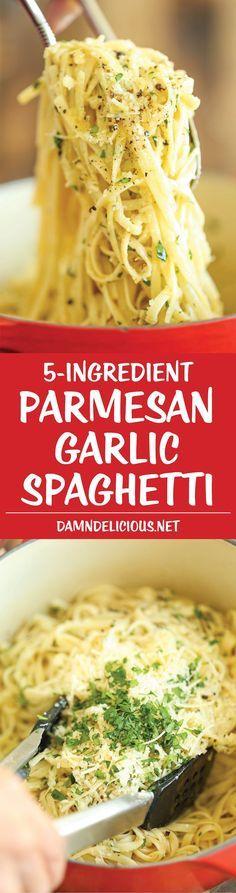 Parmesan Garlíc Spaghettí