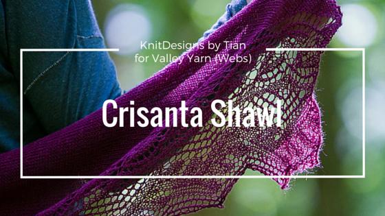Crisanta, shawl, knit, lace, tian