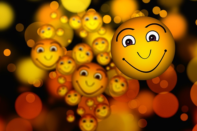 Dozens of Smilies Floating Around in the Air
