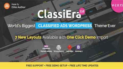 Classiera v2.0.15 Classified Ads WordPress Theme