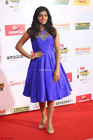 Eesha in Cute Blue Sleevelss Short Frock at Mirchi Music Awards South 2017 ~  Exclusive Celebrities Galleries 075.JPG