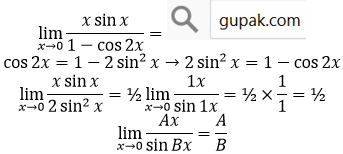 limit x sin per cos
