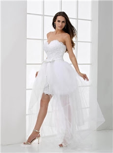 Alt+Charming Sweetheart Neckline Knee-Length Tulle Wedding Dress (11341078)