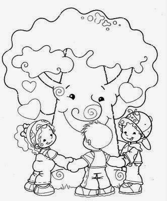 Desenhos Para Colorir Dia Da Arvore Na Educacao Infantil