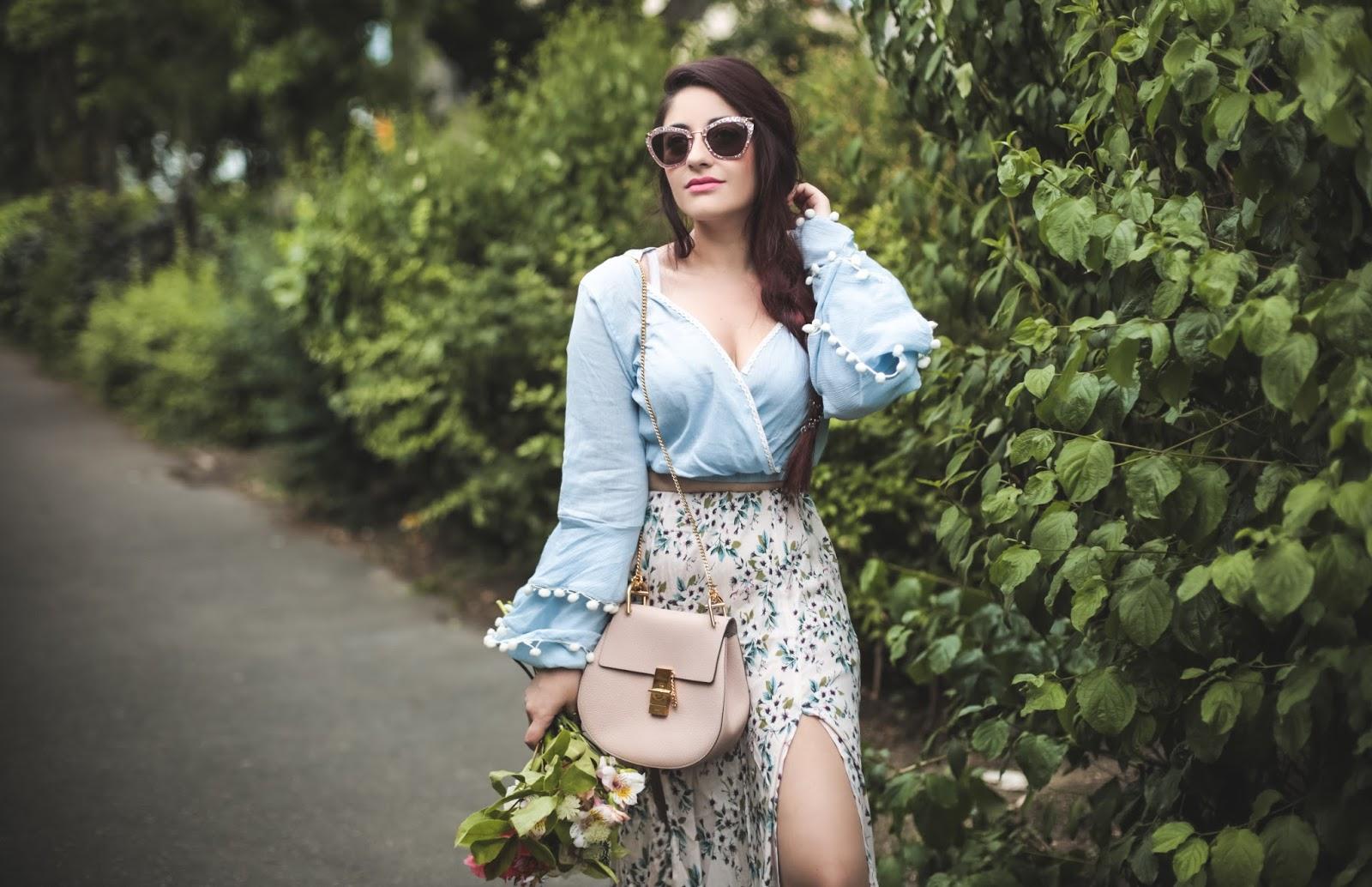 jupe longue échancrée blog mode