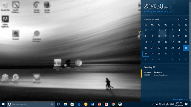Cara Lihat, Tambah, Atur Calendar Event di Taskbar Windows 10