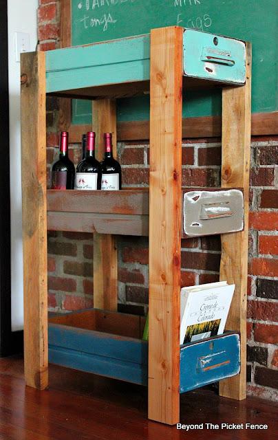 upcycled, shelf, old drawers, storage, organization, http://goo.gl/MQJhPe