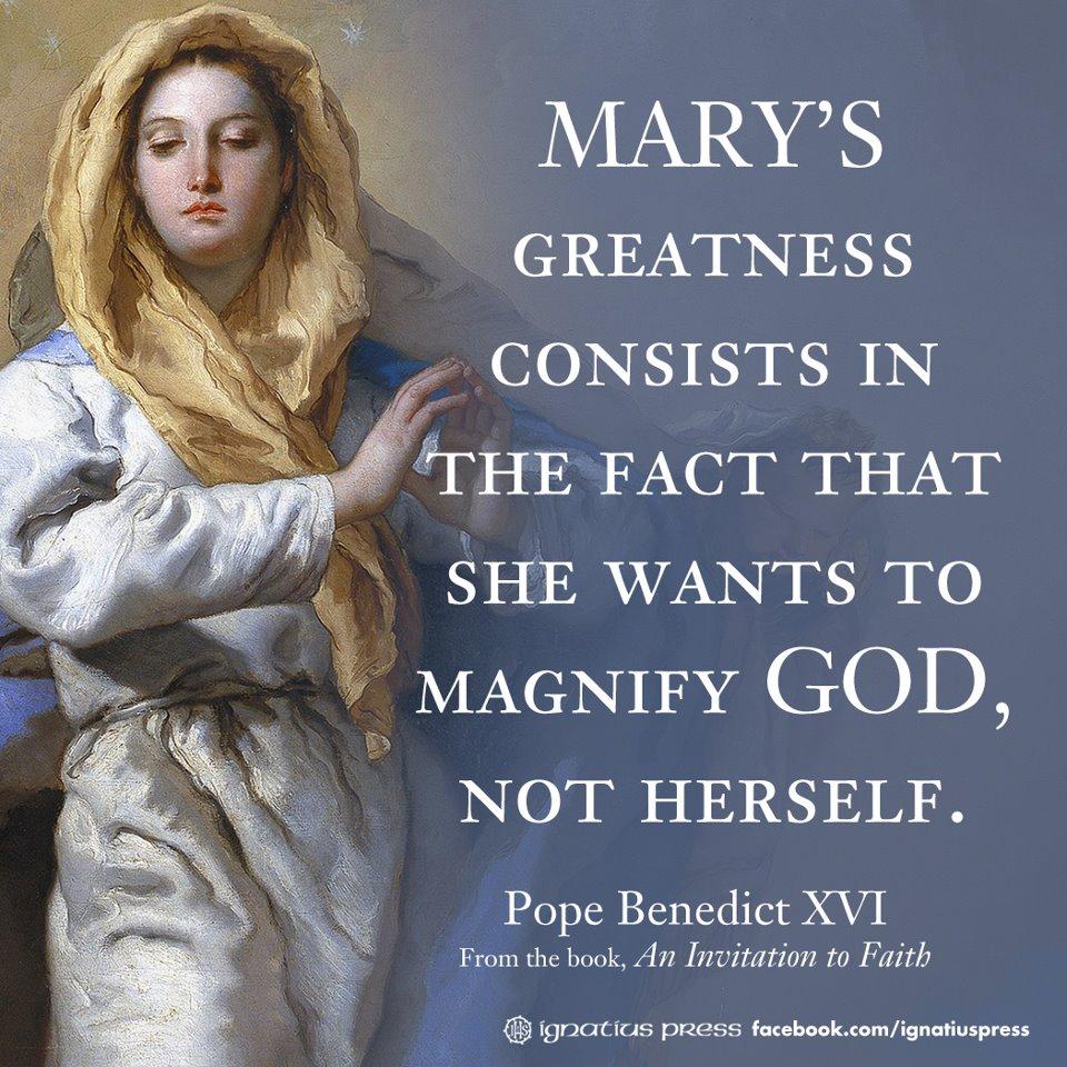 Mother Of God Movie Quote: Pro Ecclesia * Pro Familia * Pro Civitate: Mary's