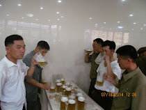 Beer Hall, Pyongyang -- One of the few things in North Korea that is NOT an illusion ...