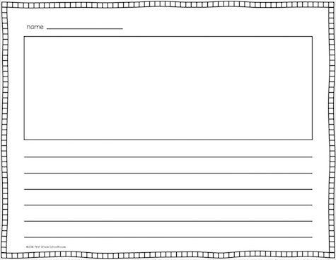 Classroom Freebies Lined Writing Paper - lined border paper