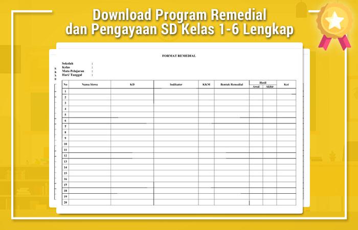 Download Program Remedial Dan Pengayaan Sd Kelas 1 6 Lengkap Operator Sekolah
