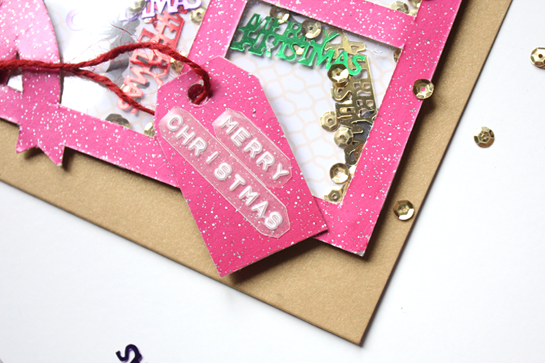christmas present shaker card