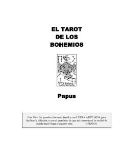 Libro en pdf Tarot Papus El Tarot de los Bohemios