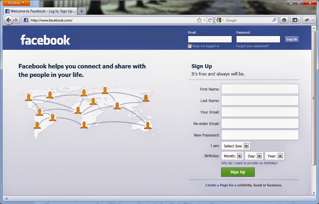 Facebook Login Online