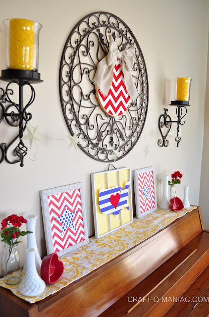4th of July Decor www.craft-o-maniac.com