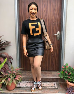 See What Tonto Dikeh Wore To Her Sons School Event
